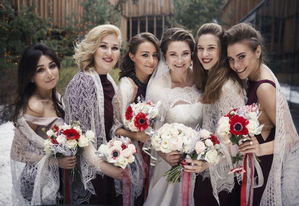 невеста Юлия с подружками